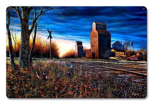 The Harvest Season Metal Sign 12 x 18 Inches