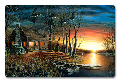 Sundown Metal Sign 12 x 18 Inches