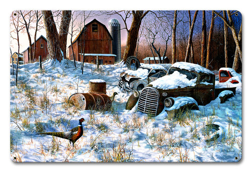 Winter Haven Metal Sign 12 x 18 Inches