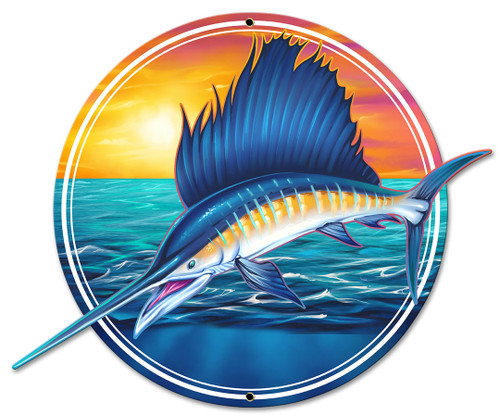 Sailfish Metal Sign 18 x 14 Inches