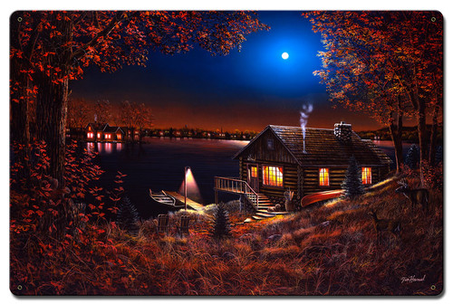 Evening Serenity Metal Sign 24 x 16 Inches