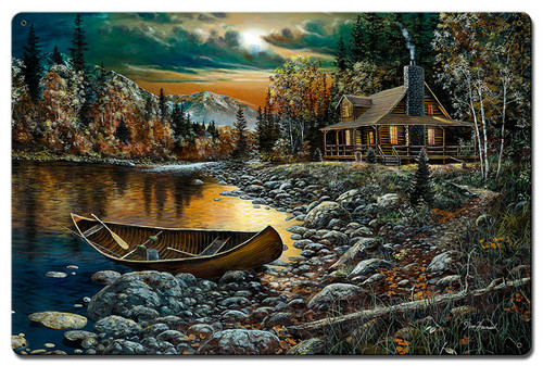 High Country Retreat Metal Sign 16 x 24 Inches