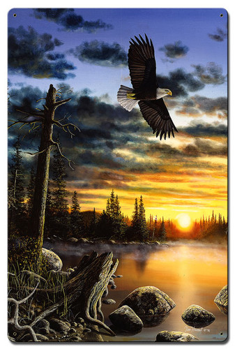 Eagle Kings Domain Metal Sign 24 x 16 Inches