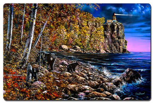 North Shore Visitors Metal Sign 16 x 24 Inches