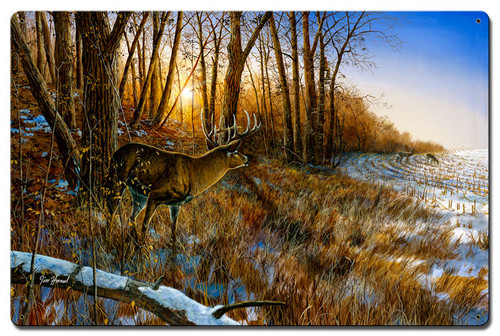 Passing The Buck Metal Sign 16 x 24 Inches