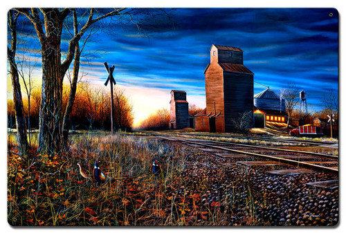 The Harvest Season Metal Sign 16 x 24 Inches