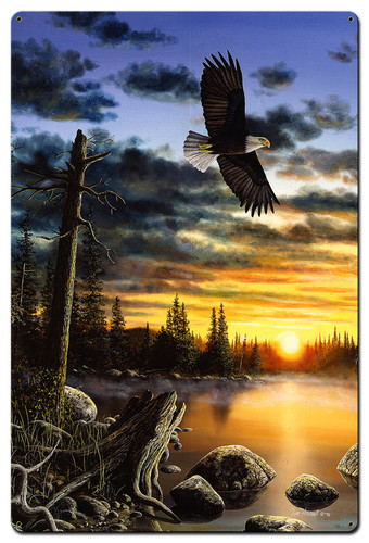 Eagles King Domain Metal Sign 36 x 24 Inches