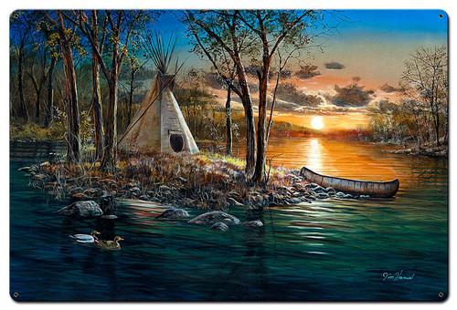 Native Lands Metal Sign 36 x 24 Inches