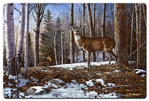 North Ridge Whitetails Metal Sign 24 x 36 Inches