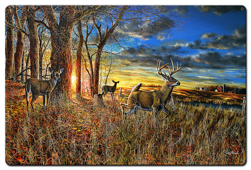 Out For The Evening Metal Sign 24 x 36 Inches