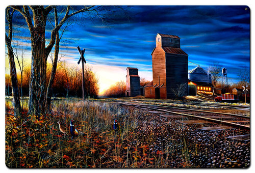 The Harvest Season Metal Sign 24 x 36 Inches