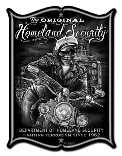 Homeland Security Metal Sign 18 x 24 Inches