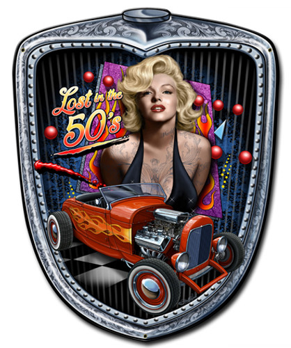 Marilyn Grill Metal Sign 15 x 18 Inches