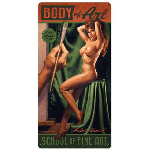 Body Of Art Metal Sign 12 x 24 Inches