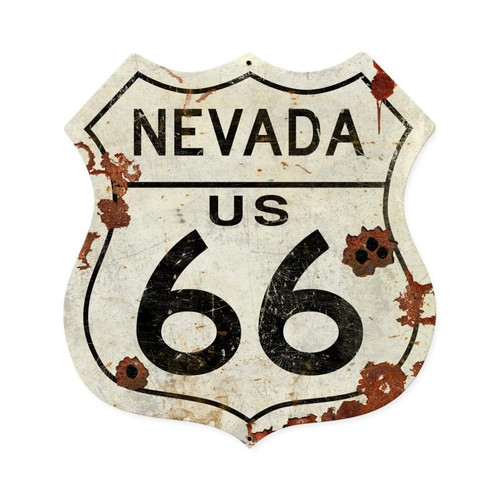 Nevada Us 66 Shield  Metal Sign 15 x 15 Inches