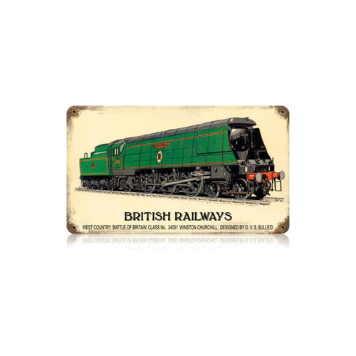 British Railways Metal Sign 14 x 8 Inches