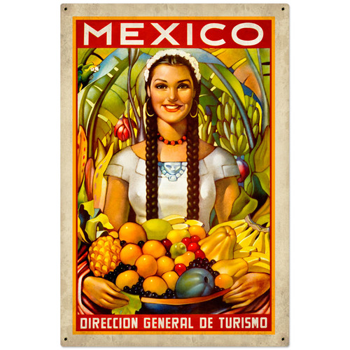 Mexico Metal Sign 24 x 36 Inches
