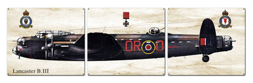 Lancaster B iii Metal Sign 48 x 14 Inches