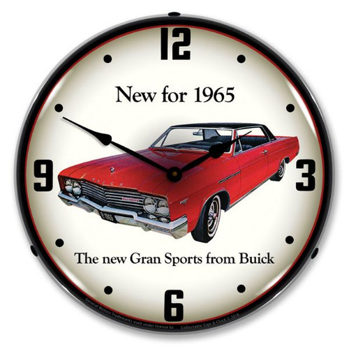 1965 Buick GS Lighted Wall Clock 14 x 14 Inches