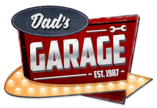 Dad's Garage Metal Sign 23 x 15 Inches