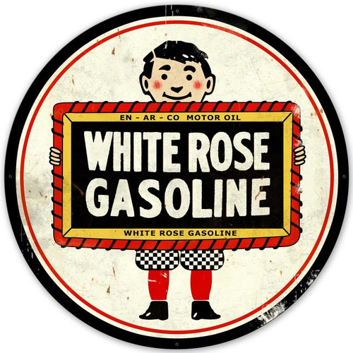 White Rose Gasoline XL Metal Sign 42 x 42 Inches