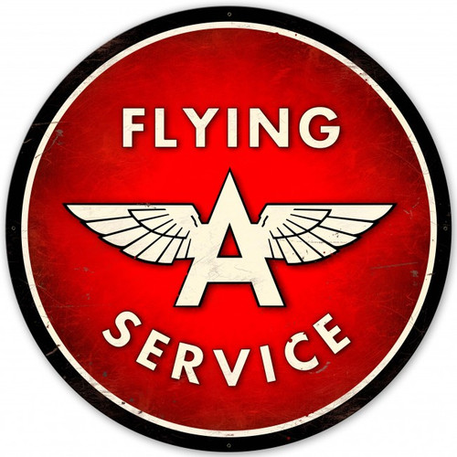 Flying A Service XL Metal Sign 42 x 42 Inches