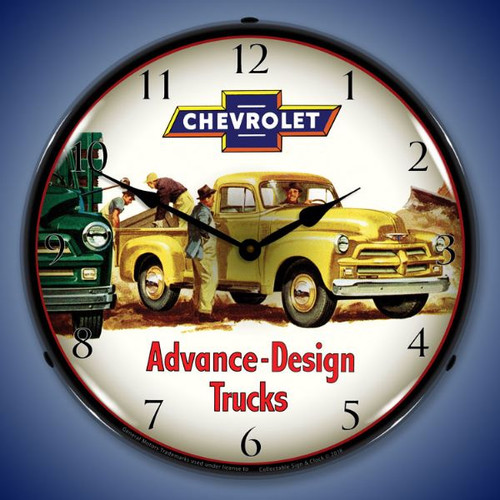 1954 Chevrolet Truck  Lighted Wall Clock 14 x 14 Inches
