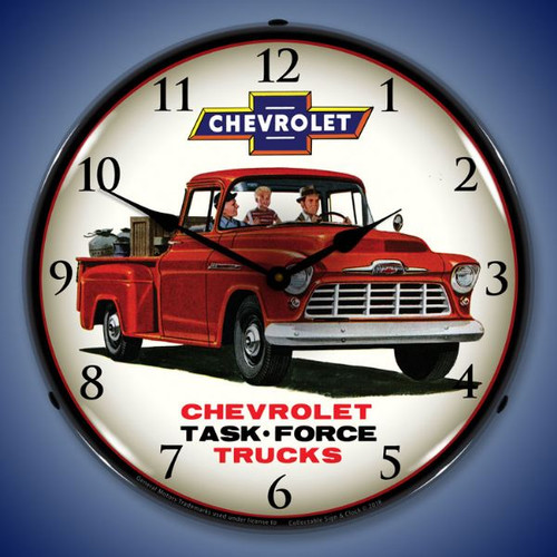 1956 Chevrolet Lighted Wall Clock 14 x 14 Inches