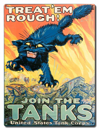 Join The Tanks Metal Sign 12 x 16 Inches