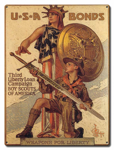 Boy Scouts Liberty Metal Sign 12 x 16 Inches
