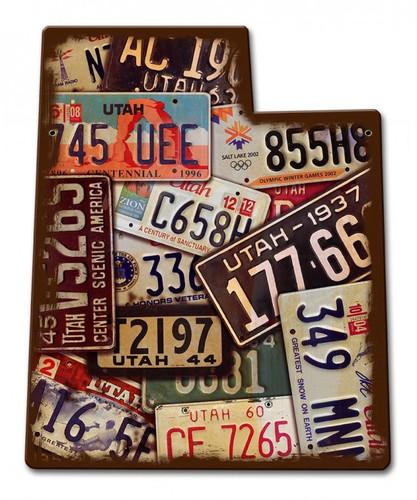 Utah License Plates Metal Sign 11 x 13 Inches