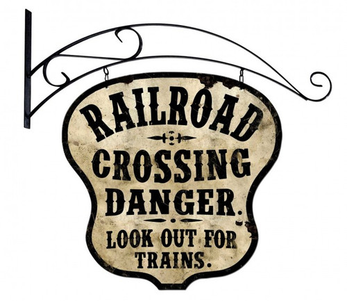 Railroad Crossing Double-Sided Metal Sign 24 x 24 Inches