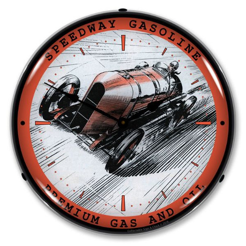 Speedway Gas Lighted Wall Clock 14 x 14 Inches