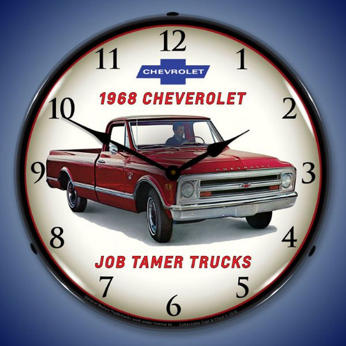 1968 Chevrolet Truck Lighted Wall Clock 14 x 14 Inches