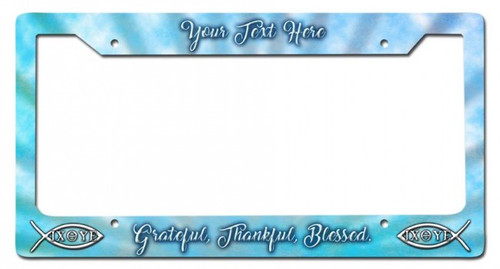 Blessed Personalized License Frame 12 x 6 Inches