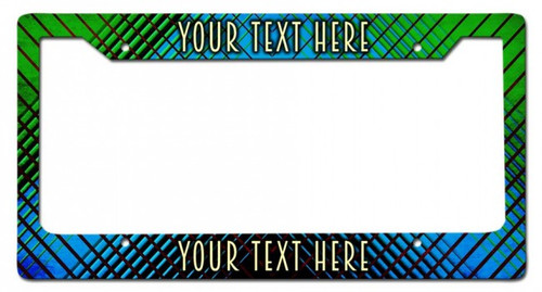 Mod Personalized License Frame 12 x 6 Inches