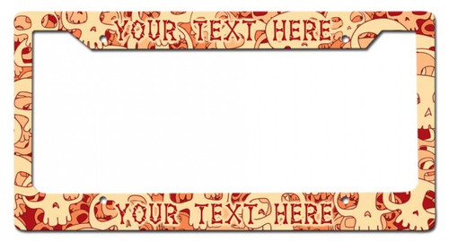 Skulls Personalized License Frame 12 x 6 Inches