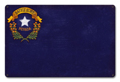 Nevada State Flag Metal Sign 18 x 12 Inches