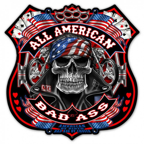 All American Metal Sign 24 x 24 Inches