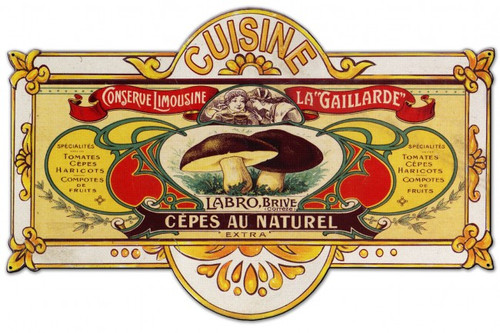 Cuisine Metal Sign 24 x 15 Inches