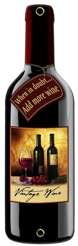 Doubt Wine Bottle Metal Sign 8 x 26 Inches