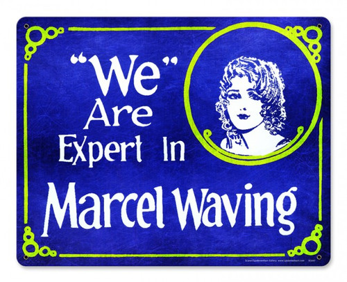 We are Expert in Marcel Waving Metal Sign 15 x 12 Inches