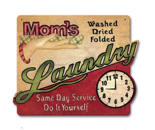 Mom's Laundry Metal Sign 15 x 12 Inches