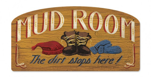 Mud Room Metal Sign 21 x 12 Inches