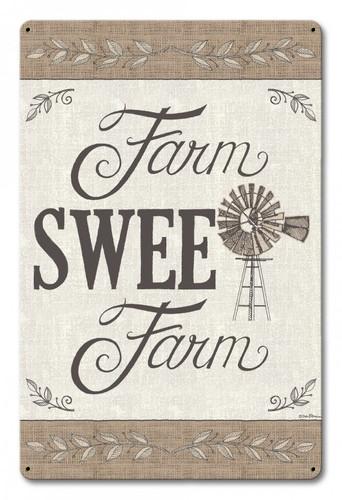 Farm Sweet Farm Metal Sign 12 x 18 Inches