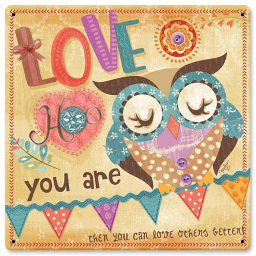 Love Hoo You Are Sign 12 x 12 Inches