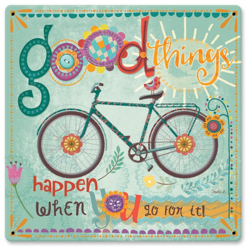 Good Things Happen Sign 12 x 12 Inches