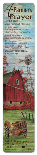 A Farmers Prayer Metal Sign 6 x 28 Inches