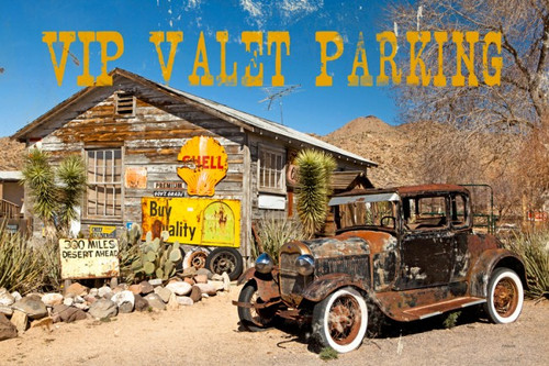 Photo Valet Parking Metal Sign 18 x 12 Inches