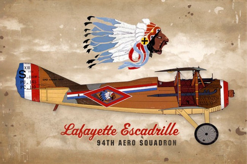 Lafayette Indian Metal Sign 18 x 12 Inches